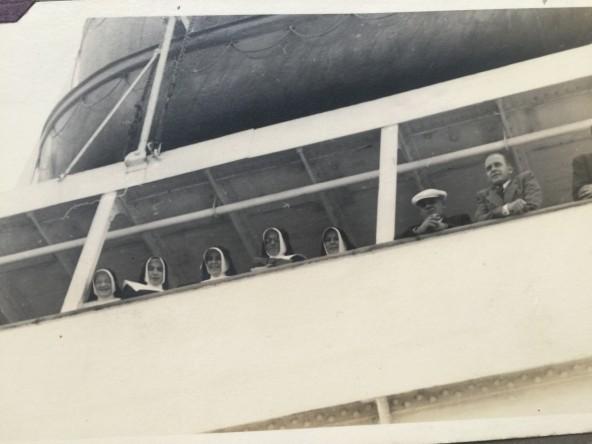 Chegada ao Brasil - 1938 - Ir. Concordia - Ir. Gabriela - Ir. Caritas - Ir. Fridolina - Ir. Tecla