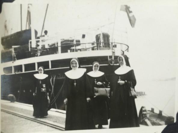 Chegada ao Brasil - 1938 - Ir. Gabriela - Ir. Concordia - Ir. Tecla - Ir. Fridolina