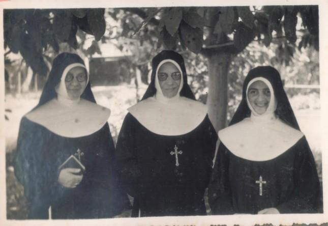 Ir. Anselma - Ir. Fridolina - Ir. Inocencia, a primeira Ir. brasileira - Consa - SP - anos 50