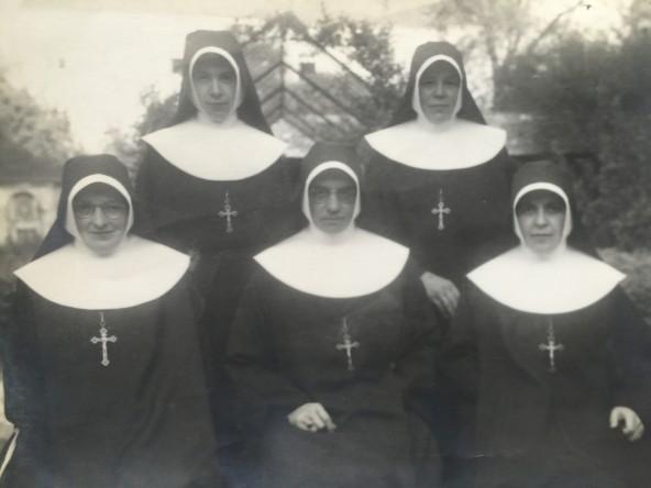 Ir. Concordia - Ir. Gabriela - Ir. Fridolina - Ir. Tecla - Ir. Caritas - 1947 - Consa - SP