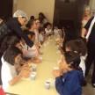 Lanche comunitário com os estudantes