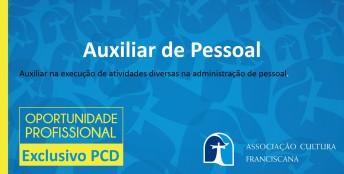 Vaga-auxiliar pessoal PCD