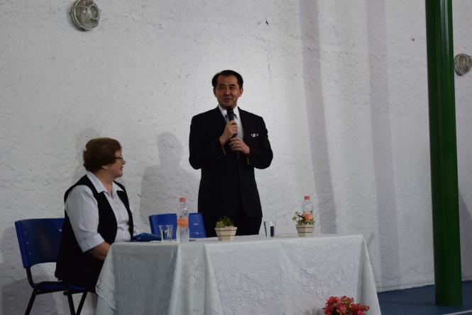 Cônsul Geral do Japão Sr. Yasushi Noguchi discursando na Cerimônia.