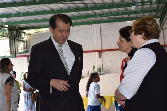 Cônsul Geral do Japão, Diretora do Colégio e a Diretora-Presidente da ACF.