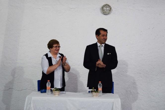 Irmã Romana Rossetto, Diretora-Presidente da ACF e o Cônsul Geral do Japão Sr. Yasushi Noguchi.